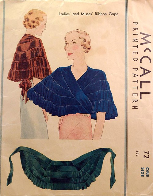 1930s vintage sewing pattern cape | This is a 1930s vintage … | Flickr