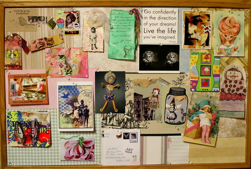 Inspiration Board~some of my goodies from other artists! (see notes) | by artjunkgirl
