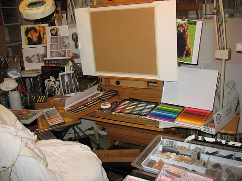 Art Studio Fully Loaded, for Pastels | by dogsbylori