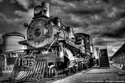 Haymarket Train Yard Hdr Black And White I Thought It