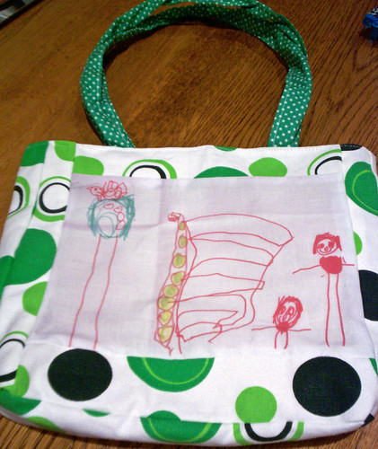 Charlotte's drawing makes a great bag | by Snailblazer