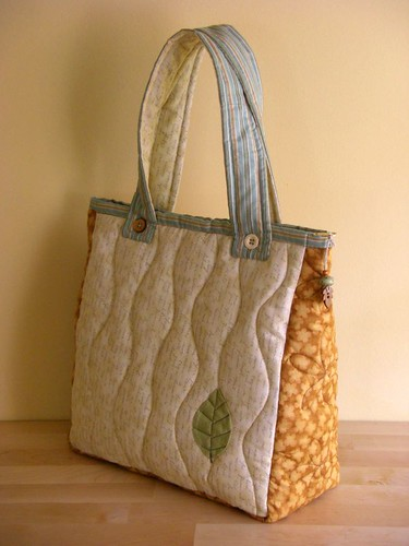 Summer Leaf bag - back | by PatchworkPottery