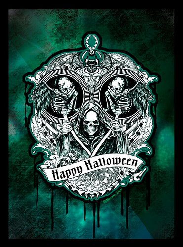 happy halloween skulls of the macabre by shaire productions - Halloween Skulls