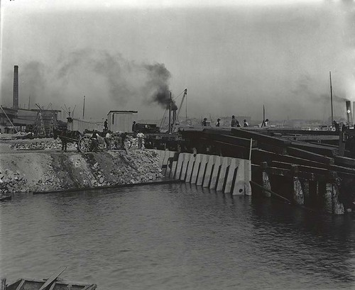 Building a 'rat proof' wharf | by State Archives NSW