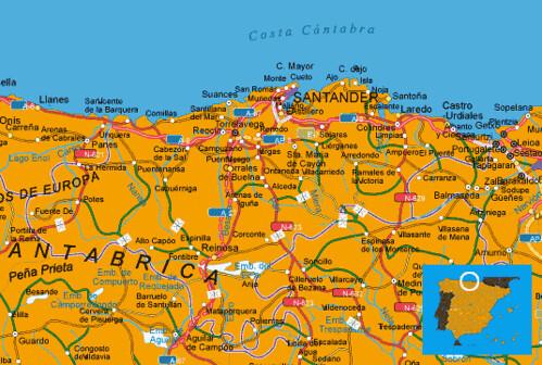 MAPA COSTA CANTABRIA (España)   MUCHOVIAJE | Hoteles en cost… | Flickr
