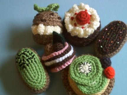 Crochet Amigurumi Collection : Amigurumi Petits Fours collection crochet food pattern ...