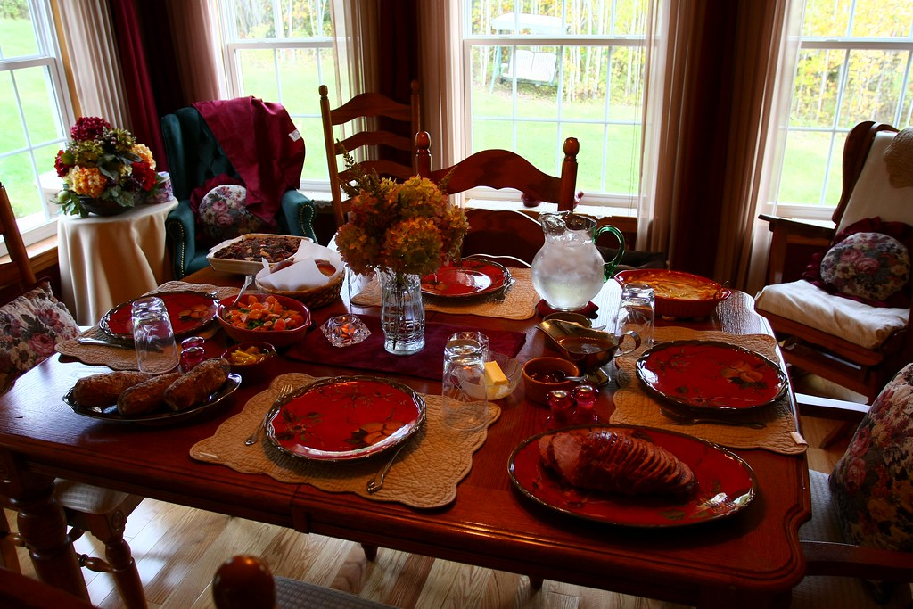 Image result for thanksgiving dinner table