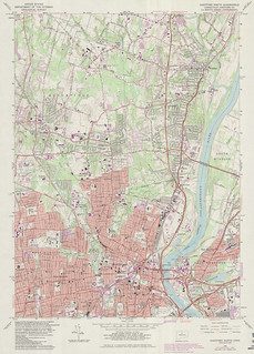 Hartford North Quadrangle 1984 - USGS Topographic Map 1:24,000 | by uconnlibrarymagic