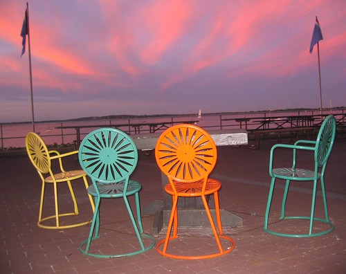 watching the dusk from mendota terrace the colorful