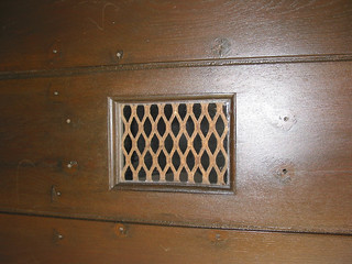 Window grate on door to Belltower Building Courtyard | by California State University Channel Islands