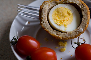 One scotch egg (No jar of Marmite) | by Unhindered by Talent
