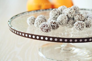 Chocolate-coconut truffles | by floridecires
