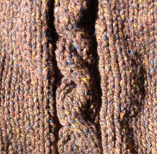 cable raglan detail | by tigerlilith