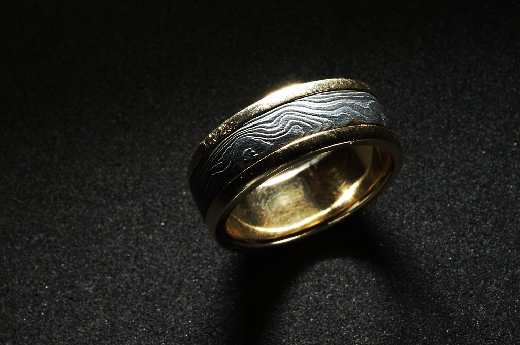damascus steel ring 126 This is my wedding ring I real Flickr