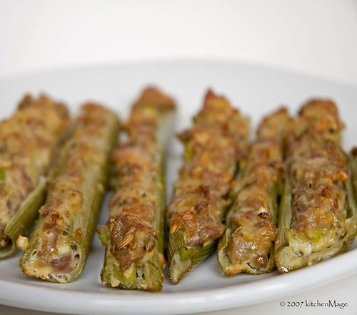 sausage stuffed lovage | by kitchenmage