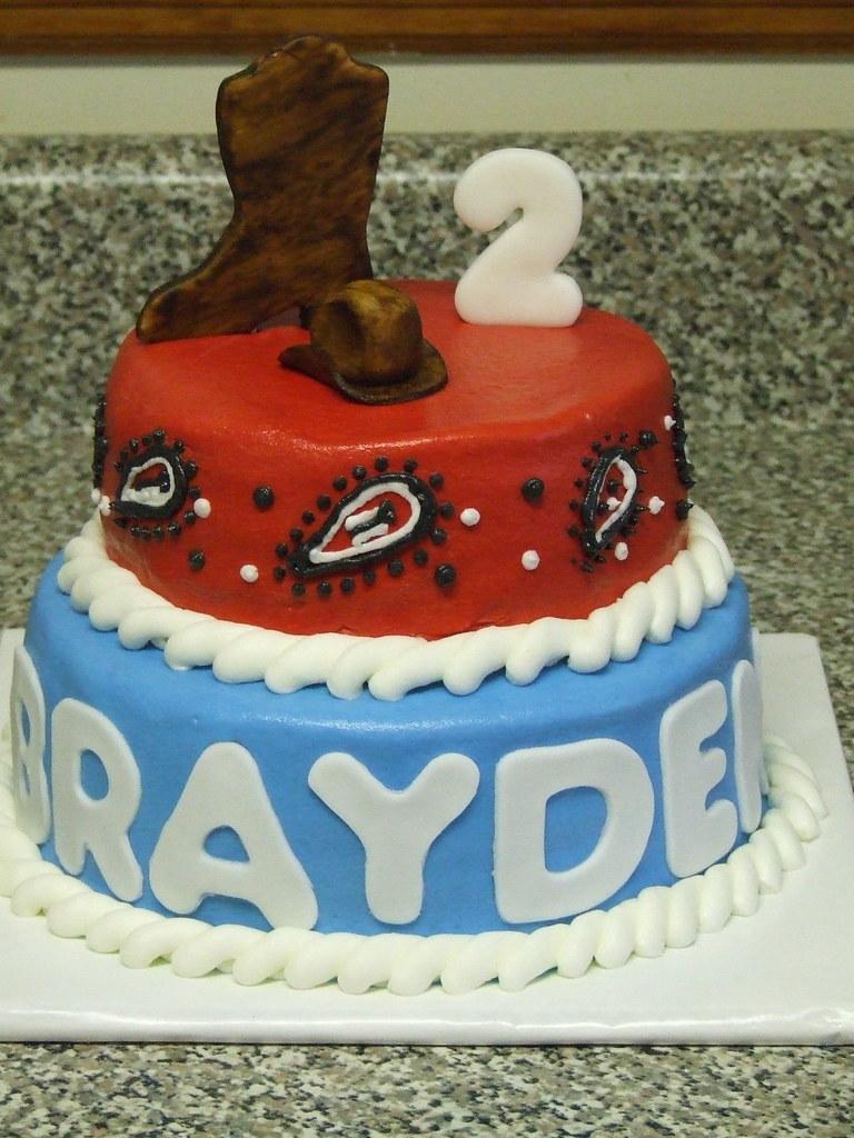 Cowboy Birthday Cake Cowboy Birthday Cake Debbie Flickr