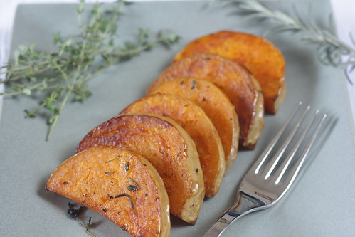roasted butternut squash with herbs | by Madison Bistro