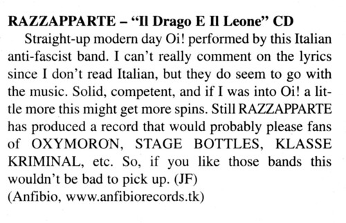 "Maximum RnR #289, June 2007 - ""Il Drago e il Leone"" review cut 