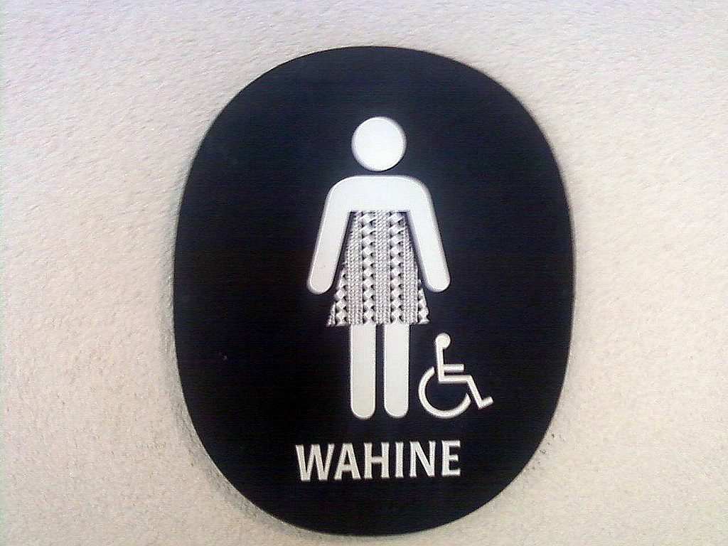 bathroom area women s asking tampa shows apparently to bay sign man use video watch