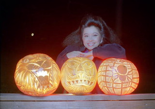 Pam Maneeratana displays her carved pumpkins: Tallahassee, Florida | by State Library and Archives of Florida