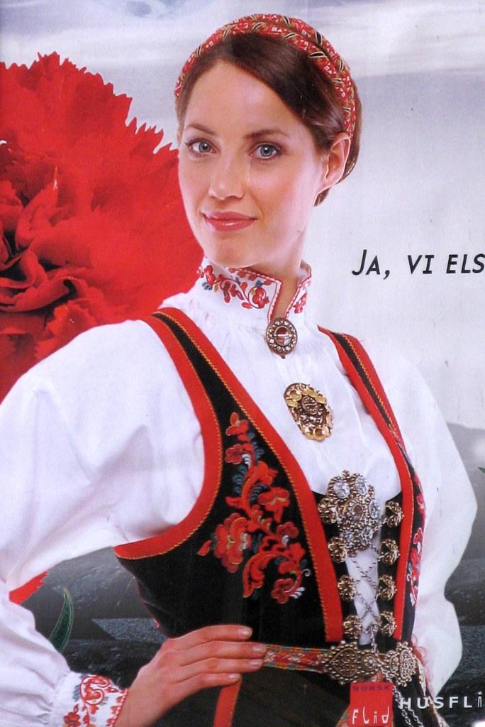 ad for traditional norwegian clothing taken in lillehammer flickr