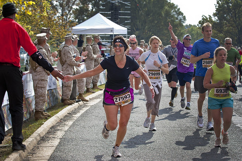 Runners cross the finish line of the 35th Marine Corps Marathon | by United States Marine Corps Official Page
