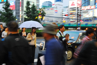 woman with umbrella, shinjuku | by marcmilan