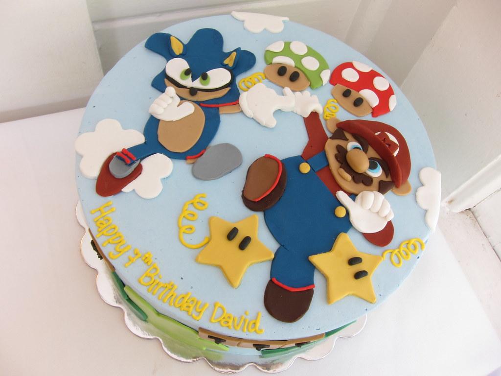 Mario And Sonic Birthday Cake Polkadots Olga Flickr