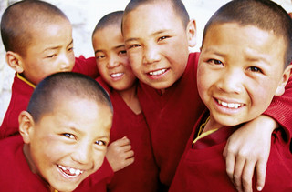Child monks grouped together at Ki Gompa, Spiti Valley-India | by karl_beeney