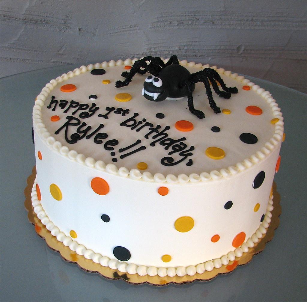 Halloween Birthday Cake This Is A Halloween Themed Birthda Flickr