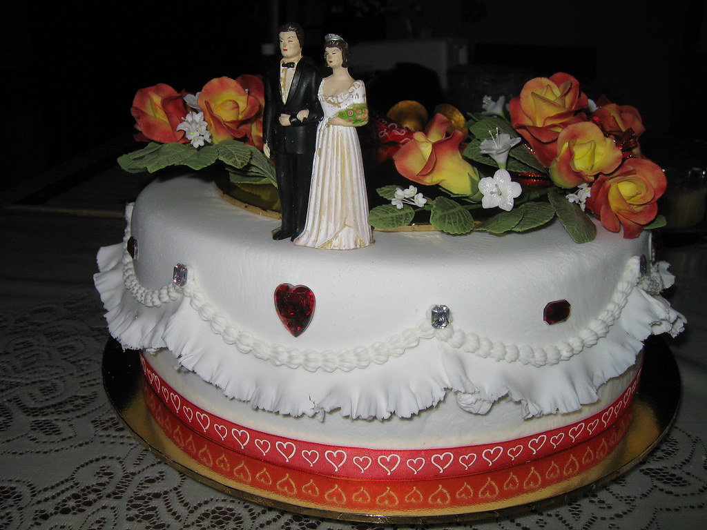 40th Wedding Anniversary Cake With Original Wedding Bri Flickr