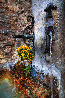 A fountain in Chillon Castle | by Pear Biter