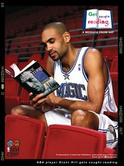 Grant Hill reads | by basketbawful