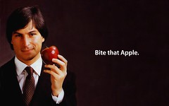 Bite That Apple Steve Jobs Desktop | by Sigalakos
