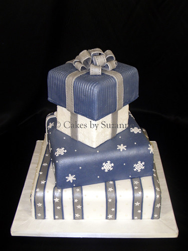 Christmas Present Wedding Cake Suzanne Mawhinney Flickr - Present Wedding Cake