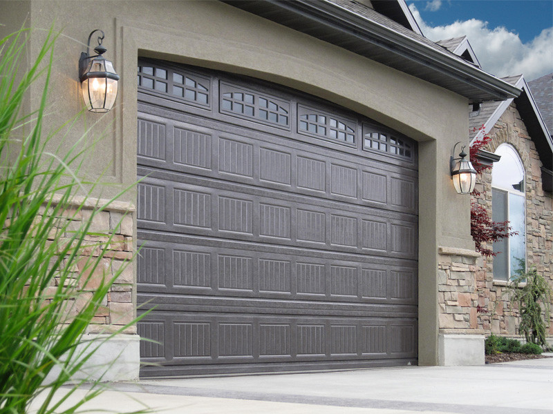 Beau ... Carywaynepeterson Garage Doors Grooved Dark Brown Color | By  Carywaynepeterson
