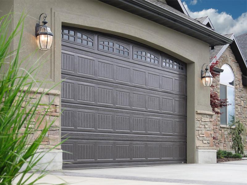 ... Carywaynepeterson Garage Doors Grooved Dark Brown Color | By  Carywaynepeterson