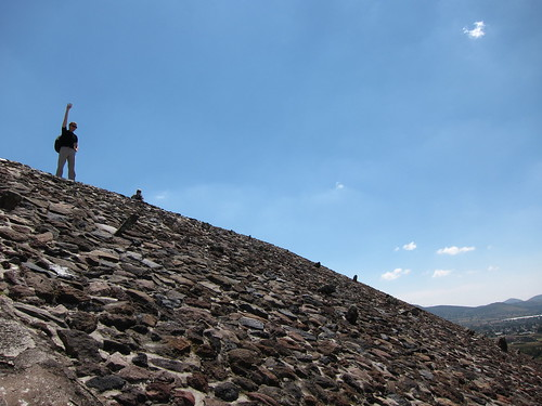 Stuart climbing a pyramid in Mexico | by belles glasgow
