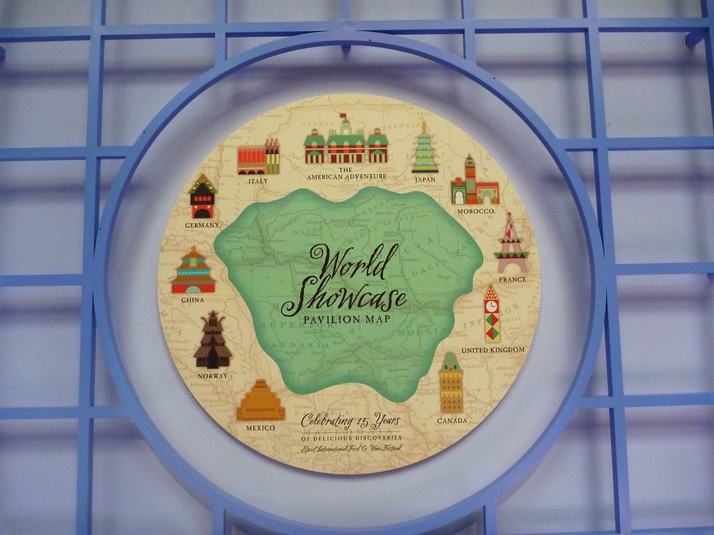 World Showcase Artistic Map | Epcot International Food & Win… | Flickr