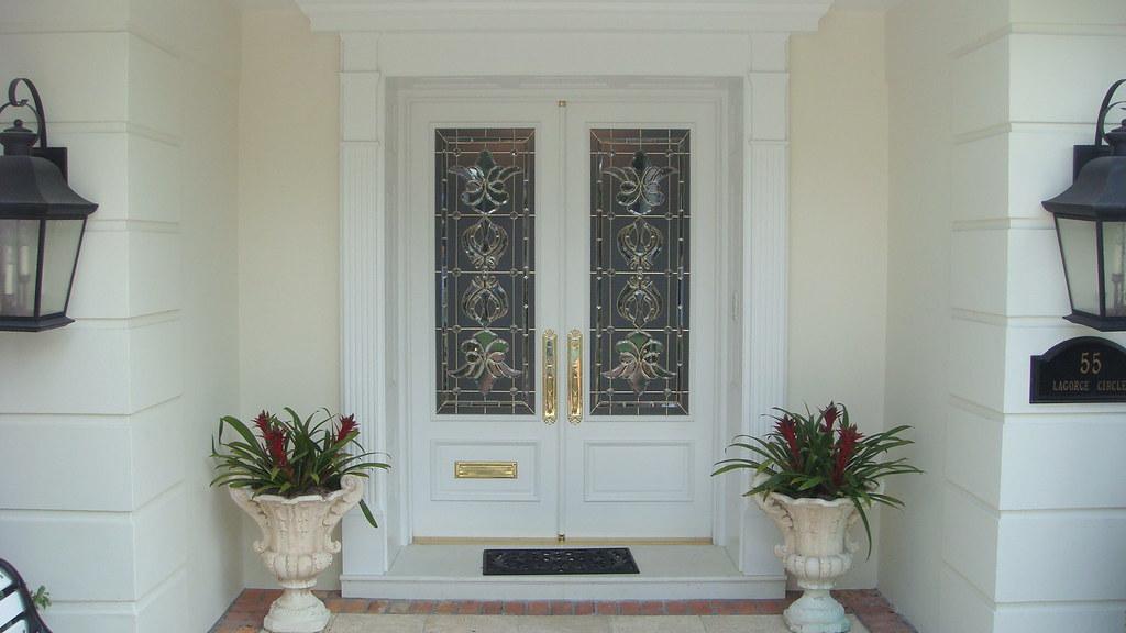 Miami Dade Impact Approved Art Glass Doors Custom White Mi Flickr