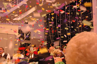 Confetti falls from the sky at President's Ball | by California State University Channel Islands