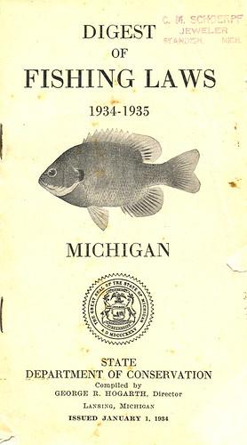 1934 michigan fishing license guide 1934 michigan for Michigan fishing regulations