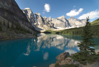 Lake Moraine and Morning Reflections | by dbarronoss