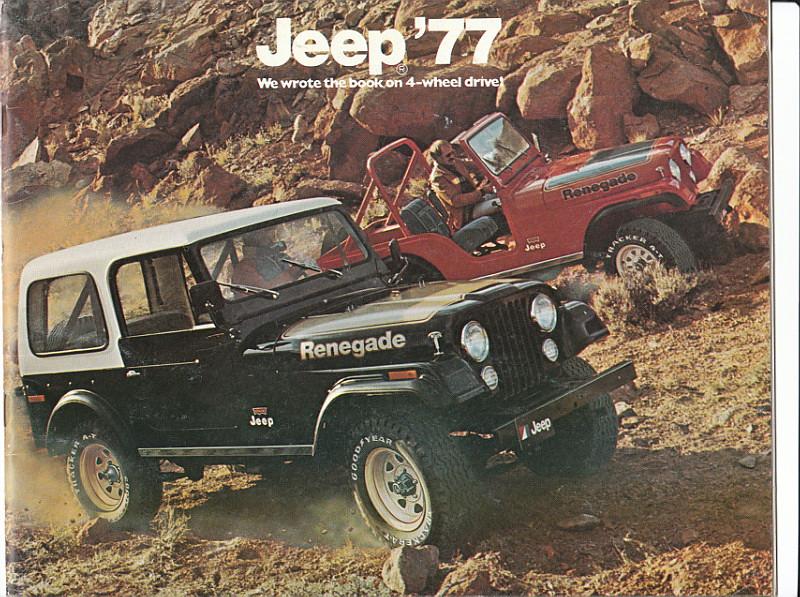 1977 Jeep CJ-7 Renegade And CJ-5 Renegade. | 1977 Jeep Sales… | Flickr