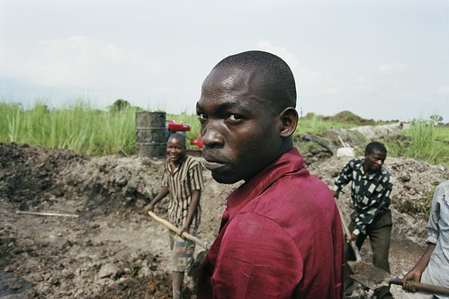 Laborer working on an irrigation project. Tanzania | by World Bank Photo Collection