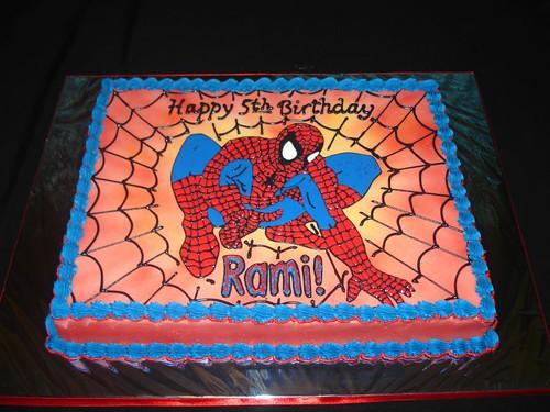 Spiderman Birthday Sheet Cake