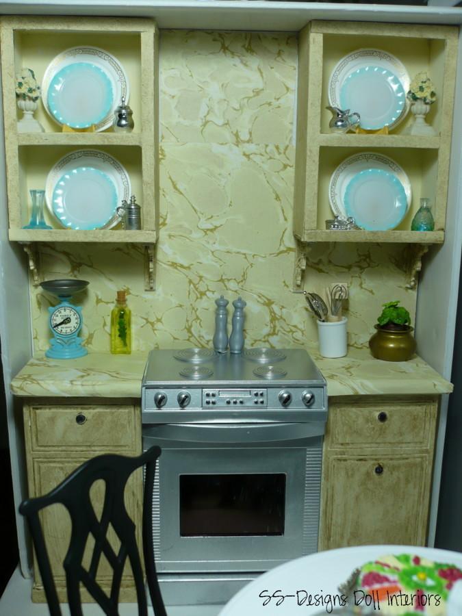 Barbie Dollhouse Kitchen Cabinet Display Gourmet Kitchen C Flickr