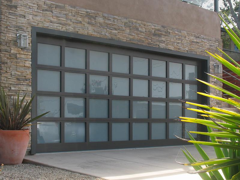 Garage Doors Athena Glass Sandcast Bronze Finish Tinted Gl Flickr
