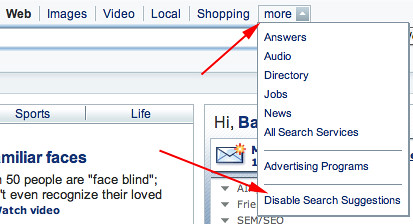 Yahoo Advanced Web Search
