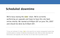 slate: Scheduled Downtime | by dmolsen